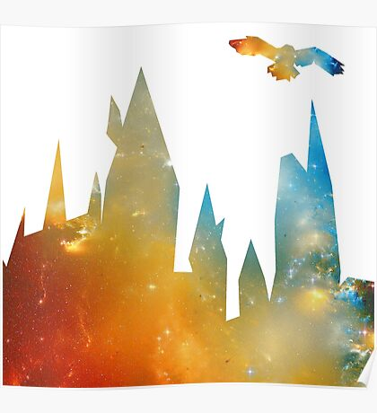 Castle with Owl Poster