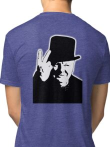 V sign, Victory, 1943, WWII, Winston, Churchill, British prime minister,  Tri-blend T-Shirt
