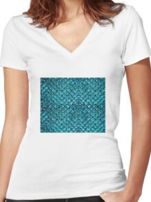 Mermaid Scales  Women's Fitted V-Neck T-Shirt