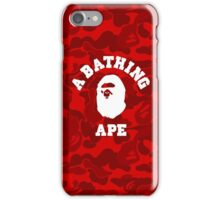 Red Camo w/ Logo iPhone Case/Skin