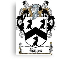 Hayes Coat of Arms (Donegal, Ireland) Canvas Print
