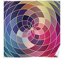 Buntes abstraktes Muster Poster