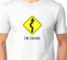 I Am Drunk Traffic Sign Beer Funny T shirt Unisex T-Shirt