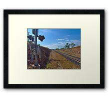 Bahnübergang im Outback Framed Print