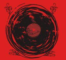 Enchanting Vinyl Records Vintage Twirls One Piece - Short Sleeve