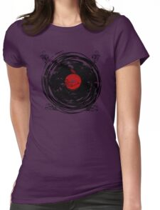 Enchanting Vinyl Records Vintage Twirls Womens Fitted T-Shirt