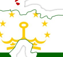 Tajikistan Flag Map Sticker