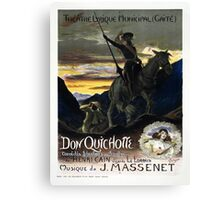 Vintage poster - Don Quichotte Canvas Print