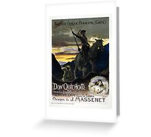 Vintage poster - Don Quichotte Greeting Card