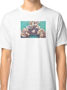 Camera & Hydrangea Classic T-Shirt