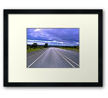 Straight ahead im Outback Framed Print