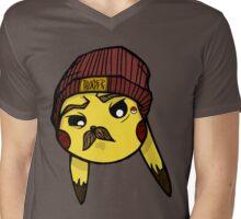 MustaCHU Mens V-Neck T-Shirt
