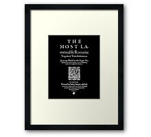 Shakespeare Titus Andronicus Frontpiece - Simple White Text Version Framed Print