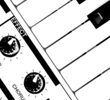 Synthesizer In Black & White Sticker