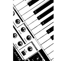 Synthesizer In Black & White Photographic Print