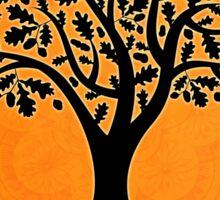 Life Tree on Orange Mandala Sticker