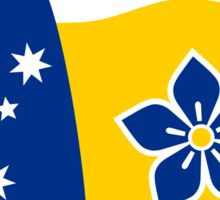 Proposed Australian Capital Terrritory (ACT) Flag - I Love Canberra Sticker