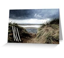 Coast...Exit and entrance. Greeting Card