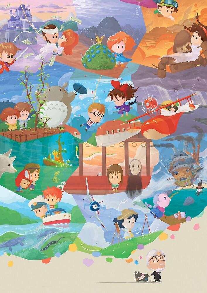 Miyazaki Fresco - Second Run (Only 75) by orioto