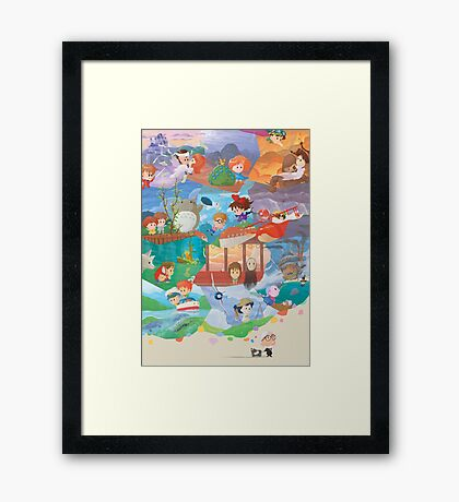 Miyazaki Fresco - Second Run (60 left) Framed Print