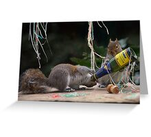 Squirrelisimo party time! Greeting Card