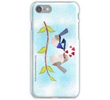 Adorable Blue Wren Birds in Love iPhone Case/Skin