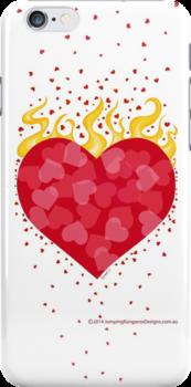 Heart burning with Love by JumpingKangaroo
