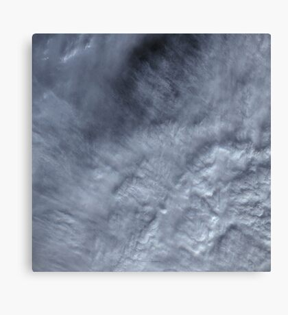 Canadian Pacific Ocean Clouds Satellite Image Canvas Print