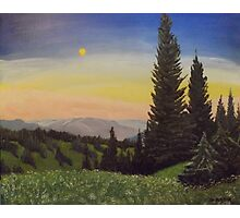 Moonlit Smoky Mountain Evening Photographic Print