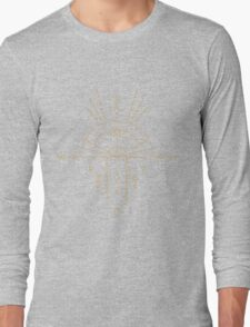 Goldenes Schamanisches Tribal Symbol Long Sleeve T-Shirt