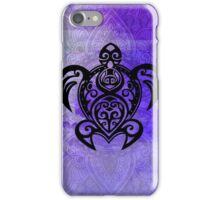 Sea Turtle Mandala Paisley on Purple iPhone Case/Skin