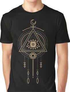 Goldenes Schamanisches Tribal Symbol Graphic T-Shirt