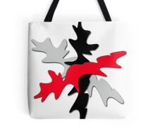 Gray, red, and black shape  Tote Bag