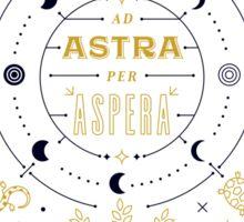 Ad Astra Per Aspera Sticker