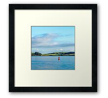 Buoy on the Water Framed Print
