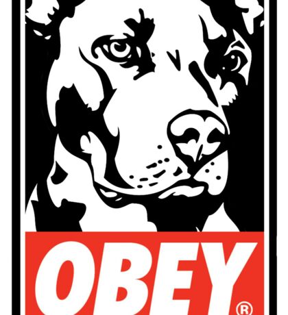 Obey Doggo Sticker