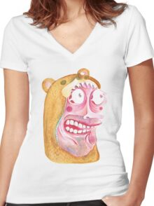 Bear Man Women's Fitted V-Neck T-Shirt