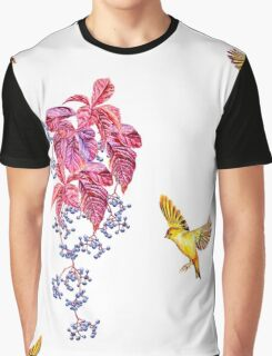 birds and wild grapes Graphic T-Shirt