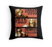 The Good, The Bad and The Titties Throw Pillow