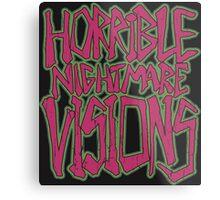 Horrible Nightmare Visions - Vintage Metal Print