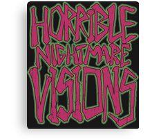 Horrible Nightmare Visions - Vintage Canvas Print