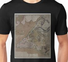 445 Plan of New York City of New York and its environs to Greenwich Town Survey'd in the winter 1775 Unisex T-Shirt