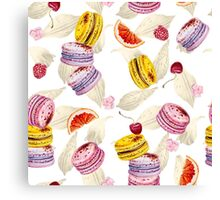 sweets and macaroons Canvas Print
