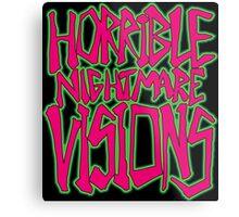 Horrible Nightmare Visions Metal Print