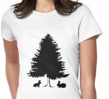 Fir and rabbits Womens Fitted T-Shirt