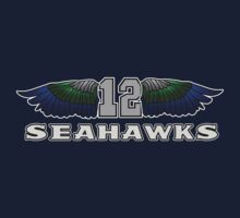 12th Man Seattle Seahawks Wings (SSH-000003) by EngDesigns
