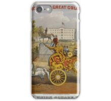 046 Above Van Amburgh Co's Great Golden Chariot Below Passing Union Square New York Weight 6000 lbs Cost 700000 iPhone Case/Skin