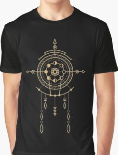 Goldenes Schamanisches Tribal Symbol Graphic T-Shirt
