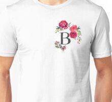 Floral Monogram Watercolor B Unisex T-Shirt