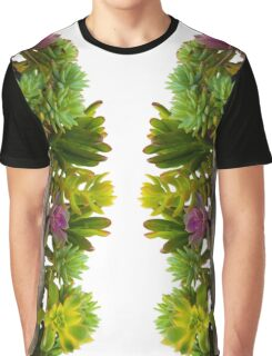 Mixed Succulents Graphic T-Shirt